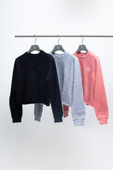 HYPE THREE PACK MULTI KIDS CROP CREW NECK