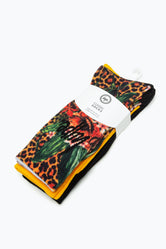 HYPE FLOWER LEOPARD CREW SOCKS 3X PACK