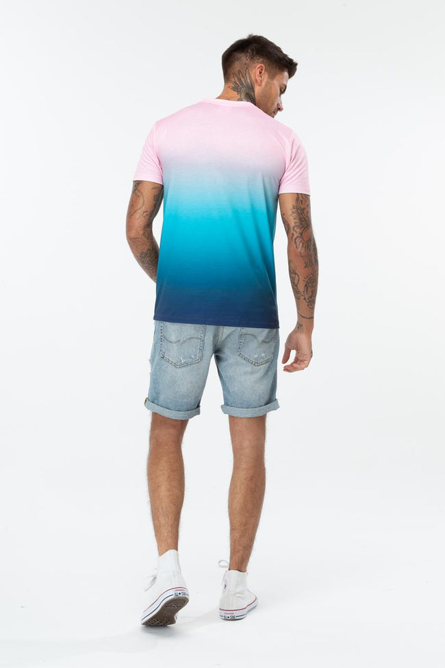 HYPE GRADIENT CREST MENS T-SHIRT