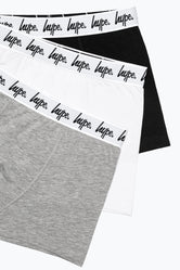 HYPE MONO CORE SCRIPT KIDS BOXER SHORTS X3 PACK