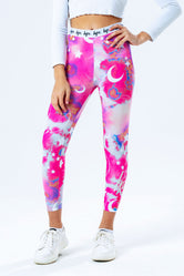 HYPE CLOUDS MYSTIC AOP KIDS LEGGINGS