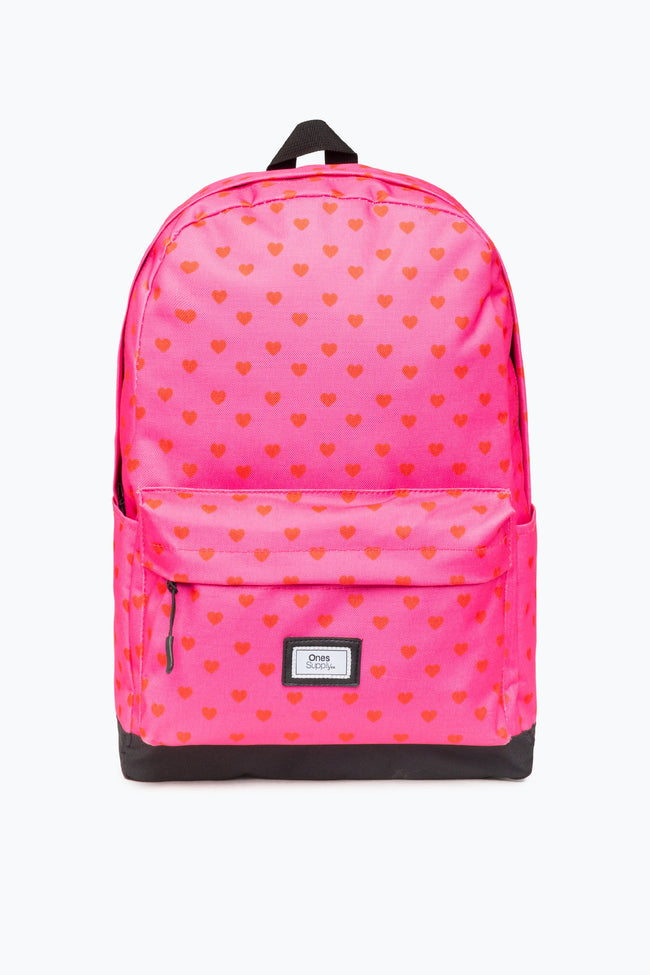 HOT PINK LOVE HEART CORE BACKPACK