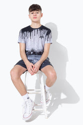HYPE MONO SPECKLE DRIPS KIDS T-SHIRT