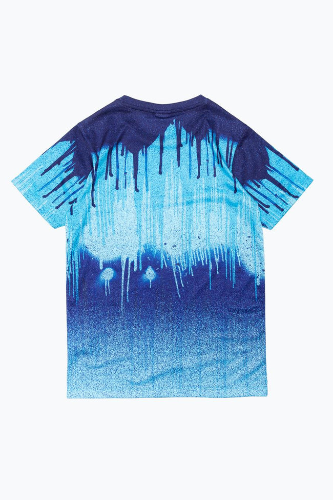 HYPE BLUE PALLET DRIPS KIDS T-SHIRT