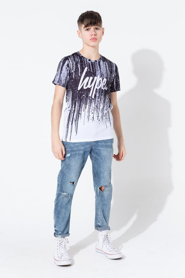 HYPE MONO PAINT DRIPS KIDS T-SHIRT