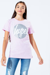 HYPE LILAC GLITTER CIRCLE KIDS T-SHIRT