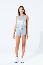 HYPE GREY HOLOGRAPHIC KIDS PLAYSUIT