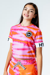 HYPE TIE DYE KIDS CROP T-SHIRT