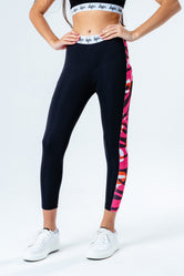 HYPE BLACK ZEBRA TAPED KIDS LEGGINGS