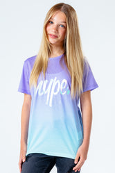 HYPE PURPLE FADE WITH FOIL SCRIPT KIDS T-SHIRT