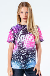HYPE PINK & PURPLE ANIMAL KIDS T-SHIRT