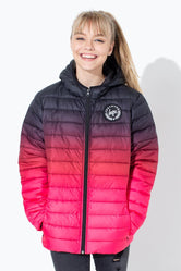 HYPE BERRY FADE KIDS PUFFER JACKET