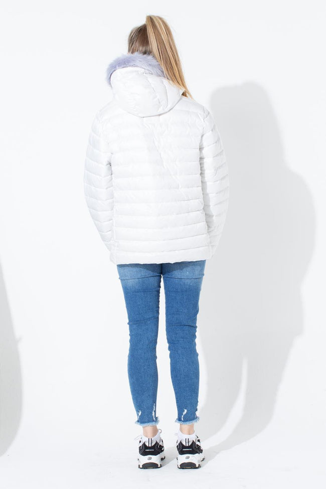 HYPE WHITE KIDS PUFFER JACKET