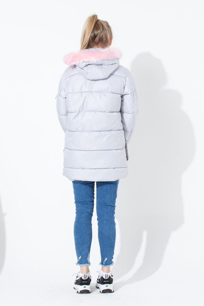 HYPE LIGHT GREY KIDS EXPLORER JACKET