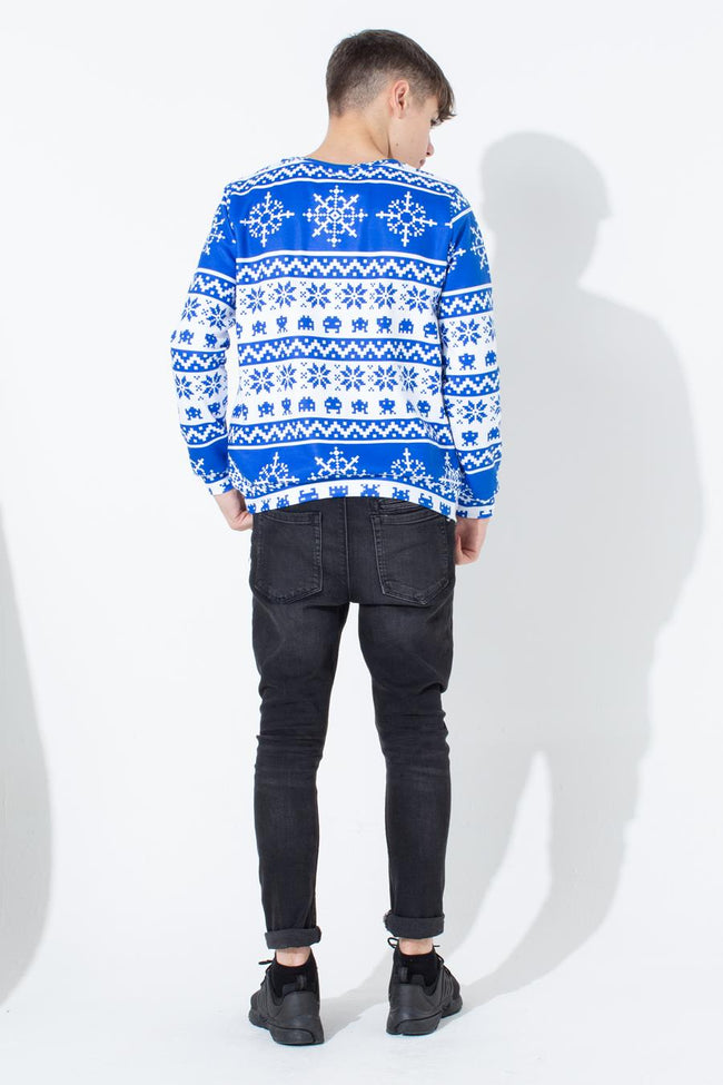 HYPE BLUE FAIRISLE KIDS CREW NECK