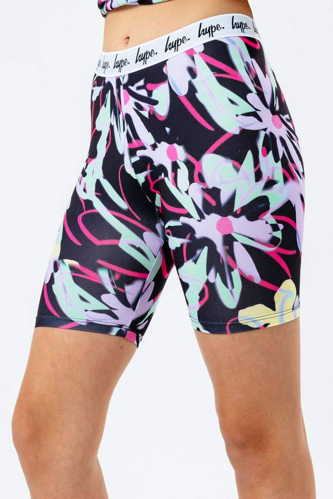 HYPE FLORAL SCRIBBLE KIDS CYCLING SHORTS