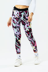 HYPE FLORAL SCRIBBLE KIDS LEGGINGS