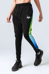 HYPE BLUE GREEN FADE PANEL KIDS JOGGERS