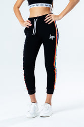 HYPE BLACK RAINBOW TAPED KIDS JOGGERS