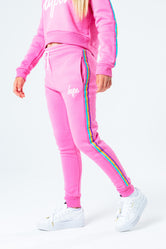 HYPE PINK RAINBOW TAPED KIDS JOGGERS