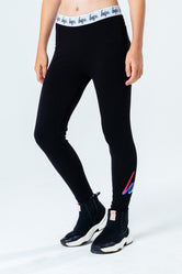 HYPE BLACK RAINBOW HOLO SCRIPT KIDS LEGGINGS