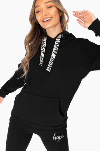 Hype Black Drawcord Women'S Pullover Hoodie