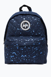 HYPE NAVY WITH METALLIC BLUE SPECKLE DIAMOND QUILTED BACKPACK
