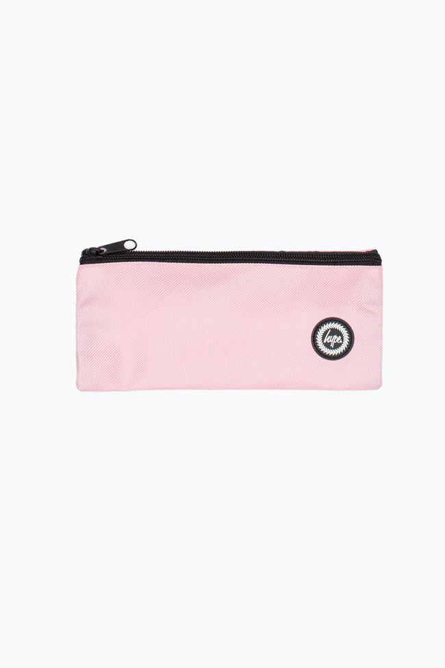 HYPE BABY PINK CREST FLAT PENCIL CASE