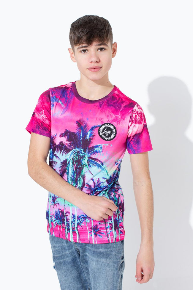 HYPE PURPLE PALM KIDS T-SHIRT