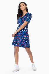 HYPE CONTRAST LEOPARD WOMEN'S TEA DRESS