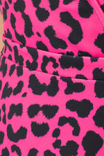 HYPE FUCHSIA LEOPARD WOMEN'S TEA DRESS