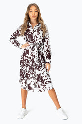HYPE COW PRINT WOMEN'S MIDI DRESS