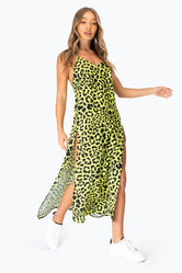 HYPE NEON LEOPARD WOMEN'S MAXI DRESS