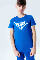 HYPE BLUE GRAFFITI SCRIPT KIDS T-SHIRT