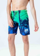 HYPE PALM FADE KIDS SWIM SHORTS