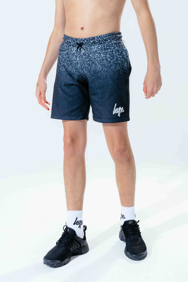 HYPE BLACK WHITE SPECKLE KIDS SHORTS
