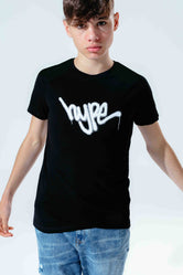 HYPE BLACK GRAFFITI SCRIPT KIDS T-SHIRT