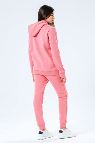Hype Pink Crest Kids Hoodie & Jogger Set
