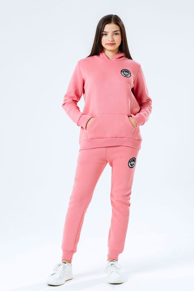 HYPE PINK CREST KIDS TRACKSUIT