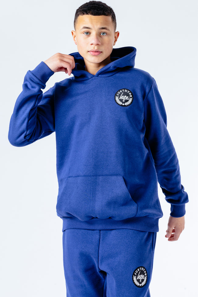 Hype Navy Crest Kids Hoodie & Jogger Set