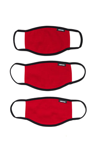 Hype 3X Adult Red Face Mask Set