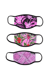 HYPE 3X ADULT FLORAL BANDANA WOMENS FACE MASK SET