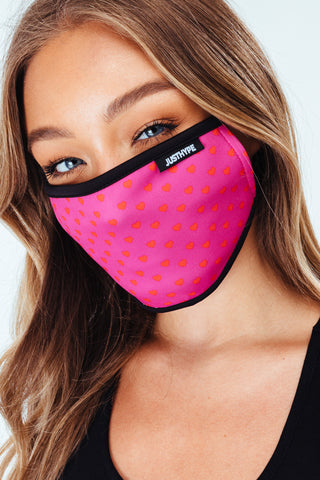 Hype 3X Adult Peach Womens Face Mask Set