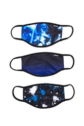 HYPE 3X ADULT SPLAT GALAXY FACE MASK SET