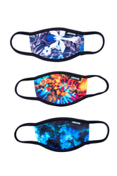HYPE 3X KIDS GARDEN TIE DYE FACE MASK SET
