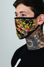 HYPE ADULT VINTAGE ROSES FACE MASK