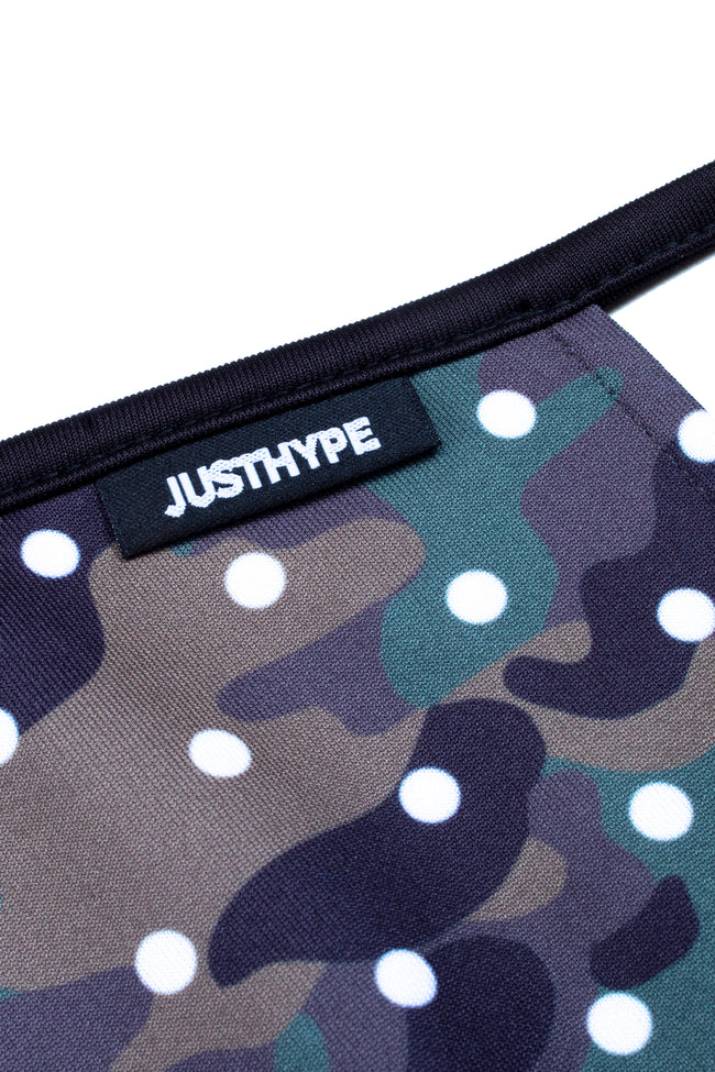 HYPE ADULT CAMO DOTS FACE MASK