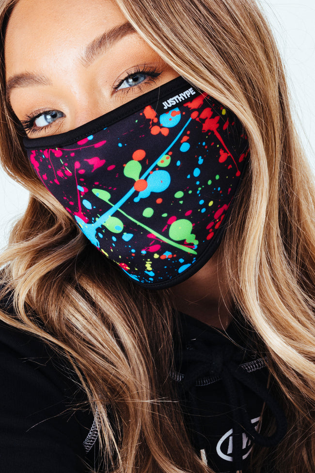 HYPE ADULT COLOR SPLAT FACE MASK