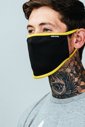 HYPE ADULT BLACK & YELLOW FACE MASK
