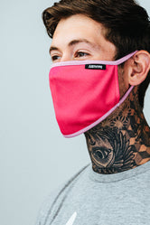 HYPE ADULT PINK & WHITE FACE MASK
